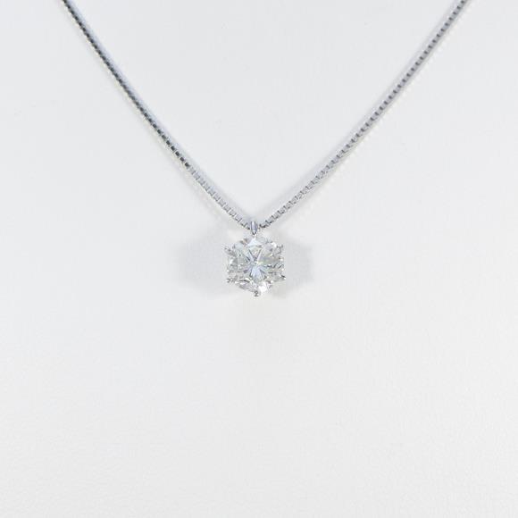【リメイク】プラチナダイヤモンドネックレス 1.140ct・H・SI1・GOOD【中古】 【店頭受取対応商品】