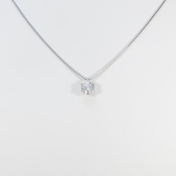【リメイク】プラチナダイヤモンドネックレス 1.009ct・G・I1・EXCELLENT【中古】 【店頭受取対応商品】