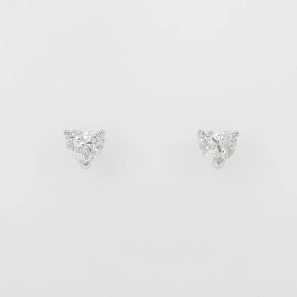 【リメイク】ST/プラチナダイヤモンドピアス 0.300ct・0.306ct・F・SI2-I1・ハートシェイプ【中古】 【店頭受取対応商品】