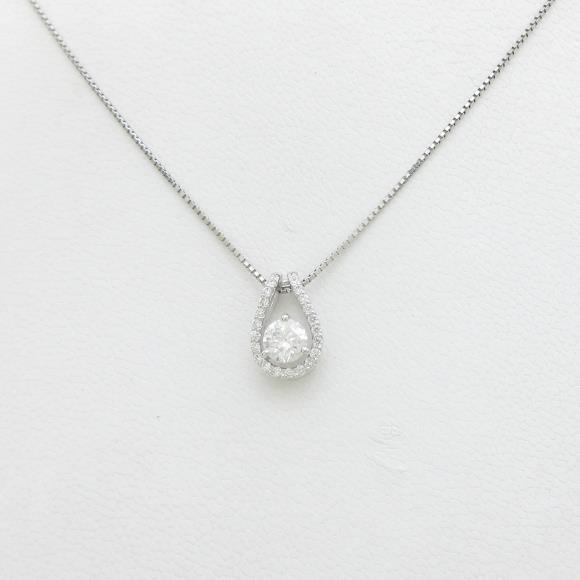 【新品】プラチナダイヤモンドネックレス 0.401ct・F・SI2・GOOD【新品】 【店頭受取対応商品】