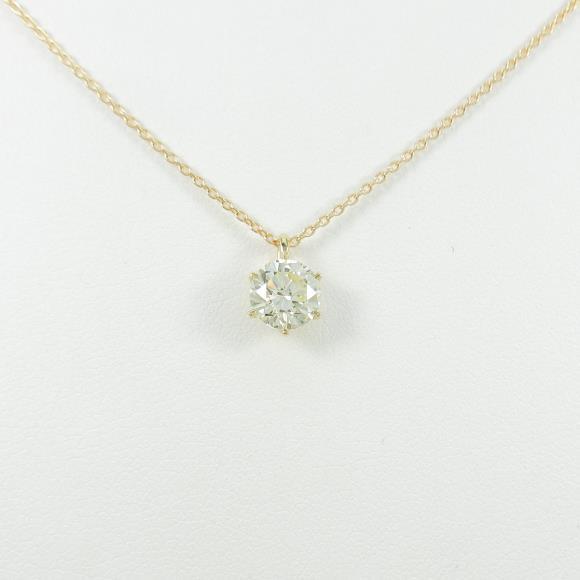 【リメイク】K18YG ダイヤモンドネックレス 1.002ct・VLY・SI2・GOOD【中古】 【店頭受取対応商品】