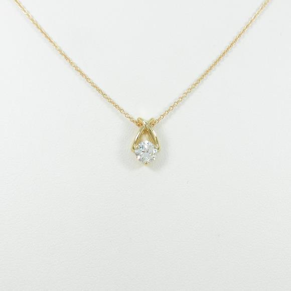 【リメイク】K18YG ダイヤモンドネックレス 0.335ct・H・VS1・VERYGOOD【中古】 【店頭受取対応商品】