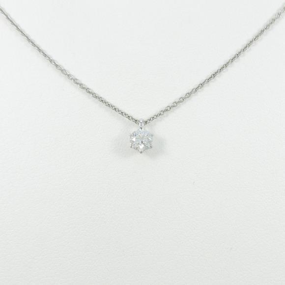 【リメイク】プラチナダイヤモンドネックレス 0.216ct・F・VVS1・EXT【中古】 【店頭受取対応商品】