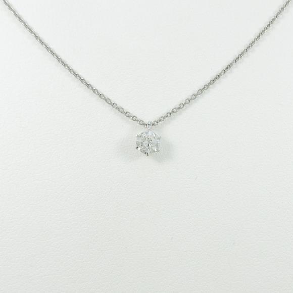 【リメイク】プラチナダイヤモンドネックレス 0.221ct・F・VS2・VERYGOOD【中古】 【店頭受取対応商品】