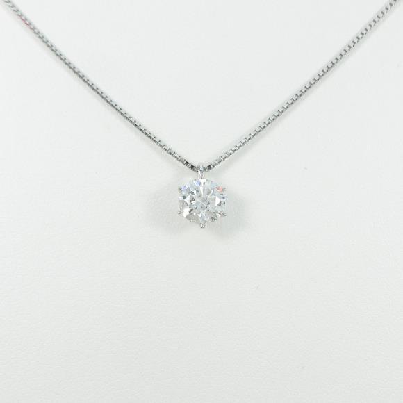 【リメイク】プラチナダイヤモンドネックレス 1.004ct・D・SI2・EXT【中古】 【店頭受取対応商品】