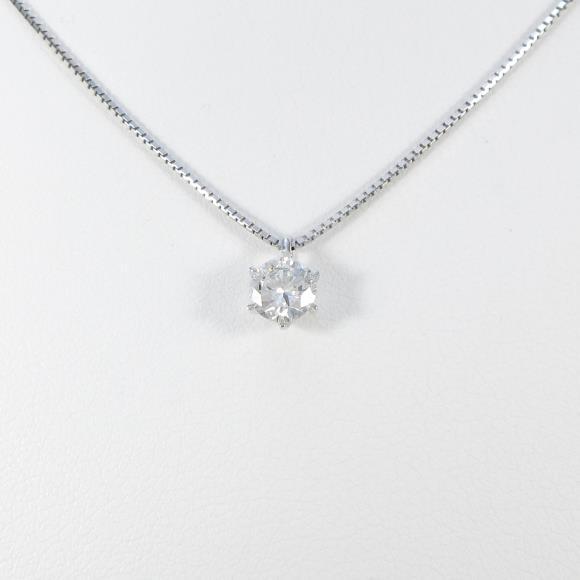 【リメイク】プラチナダイヤモンドネックレス 0.467ct・F・VS1・VERYGOOD【中古】 【店頭受取対応商品】