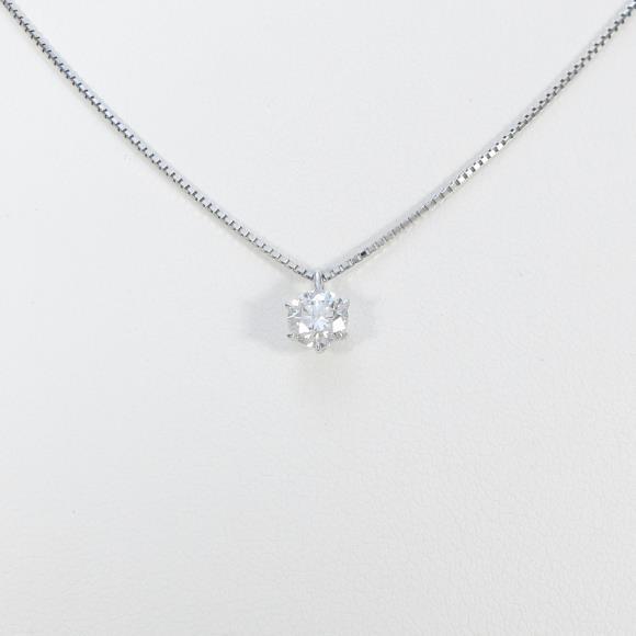 【リメイク】プラチナダイヤモンドネックレス 0.494ct・F・VVS1・VERYGOOD【中古】 【店頭受取対応商品】