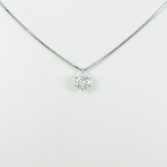 【リメイク】プラチナダイヤモンドネックレス 0.506ct・D・VVS2・VERYGOOD【中古】 【店頭受取対応商品】
