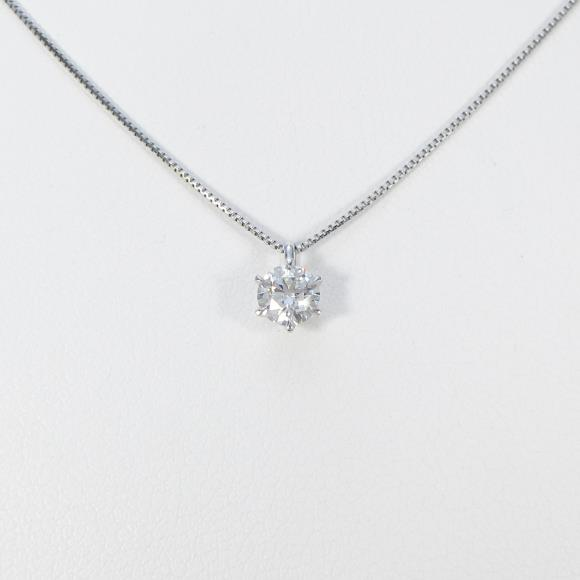 【リメイク】プラチナダイヤモンドネックレス 0.333ct・E・VS1・EXCELLENT H&C【中古】 【店頭受取対応商品】