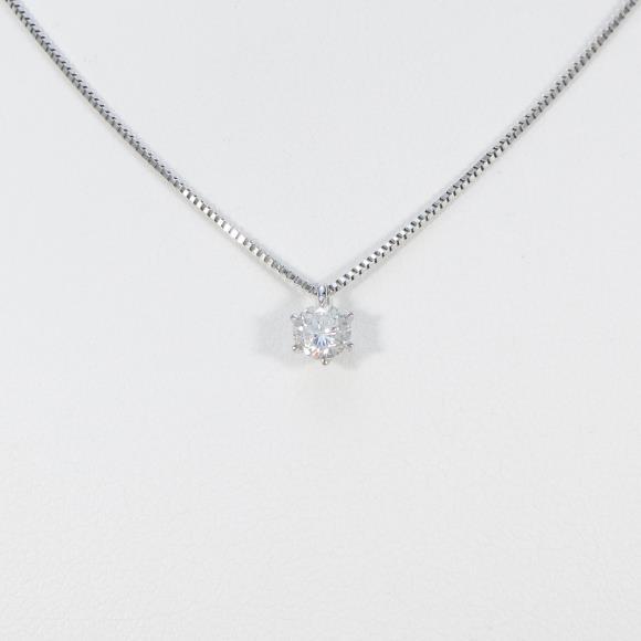 【リメイク】プラチナダイヤモンドネックレス 0.341ct・G・I1・GOOD【中古】 【店頭受取対応商品】