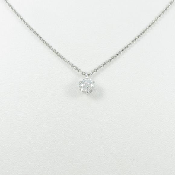 【リメイク】プラチナダイヤモンドネックレス 0.338ct・E・IF・EXT【中古】 【店頭受取対応商品】