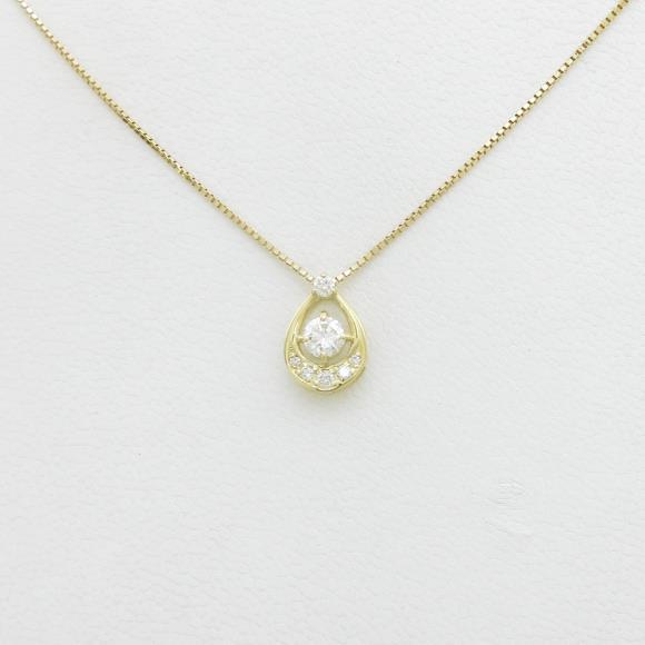 【新品】K18YG ダイヤモンドネックレス 0.205ct・E・SI2・GOOD【新品】 【店頭受取対応商品】