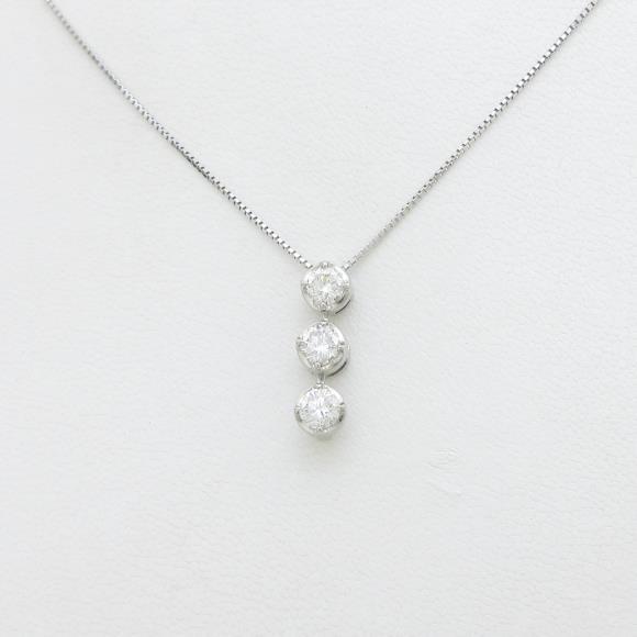 【新品】プラチナダイヤモンドネックレス 1.013ct・F・SI2・GOOD【新品】 【店頭受取対応商品】