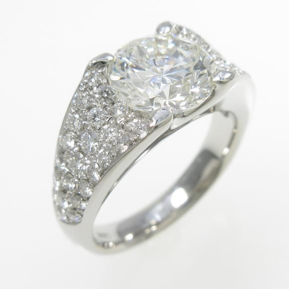 プラチナダイヤモンドリング 2.048ct・H・VS2・VERYGOOD【中古】 【店頭受取対応商品】