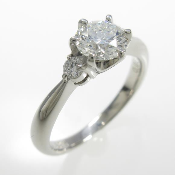 プラチナダイヤモンドリング 0.625ct・F・VS1・3EXT H&C【中古】 【店頭受取対応商品】