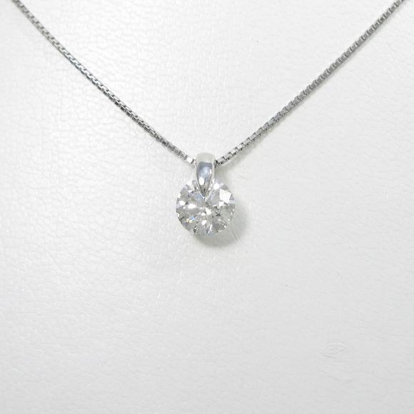 【リメイク】プラチナダイヤモンドネックレス 1.603ct・F・SI2・3EXCELLENT【中古】 【店頭受取対応商品】
