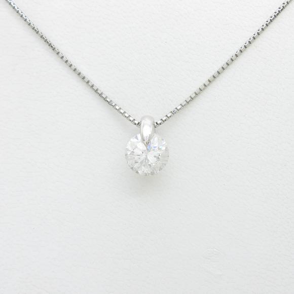 【リメイク】プラチナダイヤモンドネックレス 2.163ct・F・SI2・GOOD【中古】 【店頭受取対応商品】