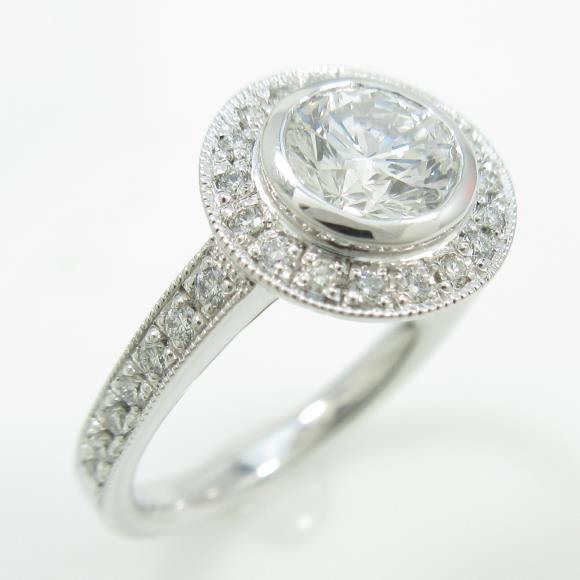【リメイク】プラチナダイヤモンドリング 0.641ct・E・VS1・VERYGOOD【中古】 【店頭受取対応商品】