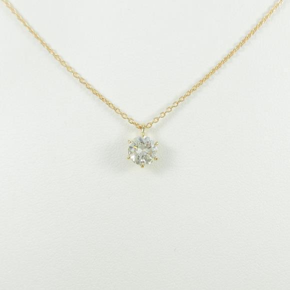 【リメイク】K18YG ダイヤモンドネックレス 0.642ct・I・I1・GOOD【中古】 【店頭受取対応商品】