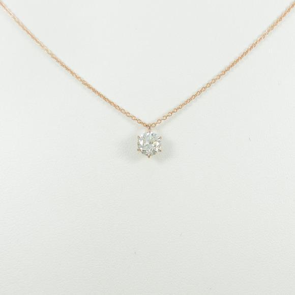 【リメイク】K18PG ダイヤモンドネックレス 0.509ct・J・VS2・GOOD【中古】 【店頭受取対応商品】