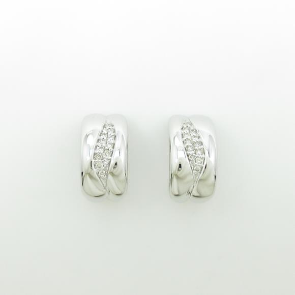 K18WG ダイヤモンドピアス・イヤリング【中古】 【店頭受取対応商品】