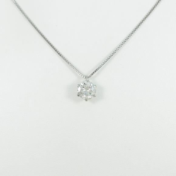プラチナダイヤモンドネックレス 1.037ct・I・SI2・GOOD【中古】 【店頭受取対応商品】