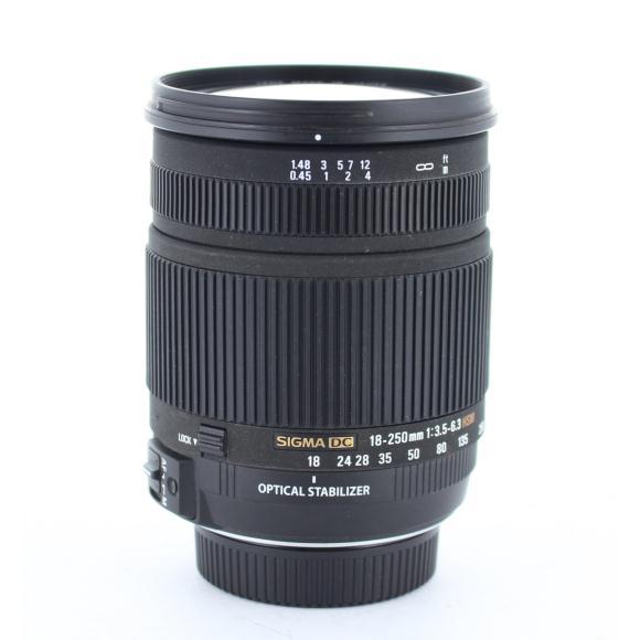 SIGMA ニコン18-250mm F3.5-6.3DC OS【中古】