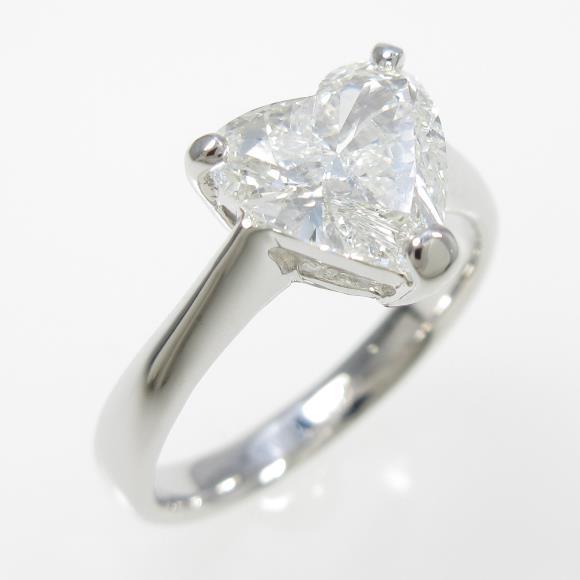 【リメイク】プラチナダイヤモンドリング 1.409ct・F・SI1・ハートシェイプ【中古】 【店頭受取対応商品】