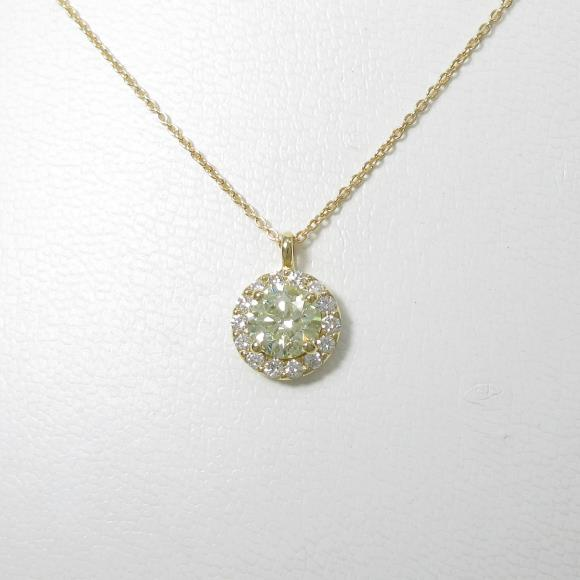 【リメイク】K18YG ダイヤモンドネックレス 1.008ct・LY・I1・VERYGOOD【中古】 【店頭受取対応商品】