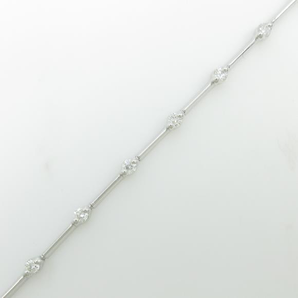 K18WG ダイヤモンドブレスレット【中古】 【店頭受取対応商品】