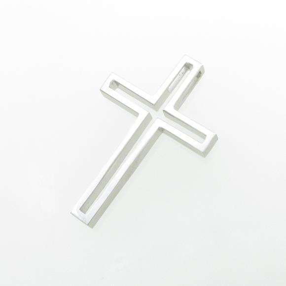 K18WG クロス ペンダント【中古】 【店頭受取対応商品】