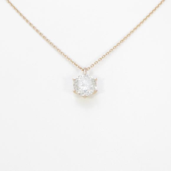 【リメイク】K18PG ダイヤモンドネックレス 2.059ct・J・I1・VERYGOOD【中古】 【店頭受取対応商品】