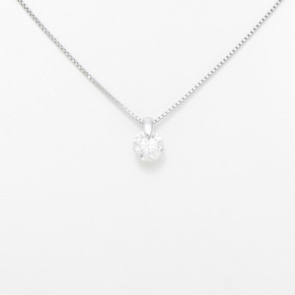【リメイク】プラチナダイヤモンドネックレス 1.012ct・H・I1・EXCELLENT【中古】 【店頭受取対応商品】