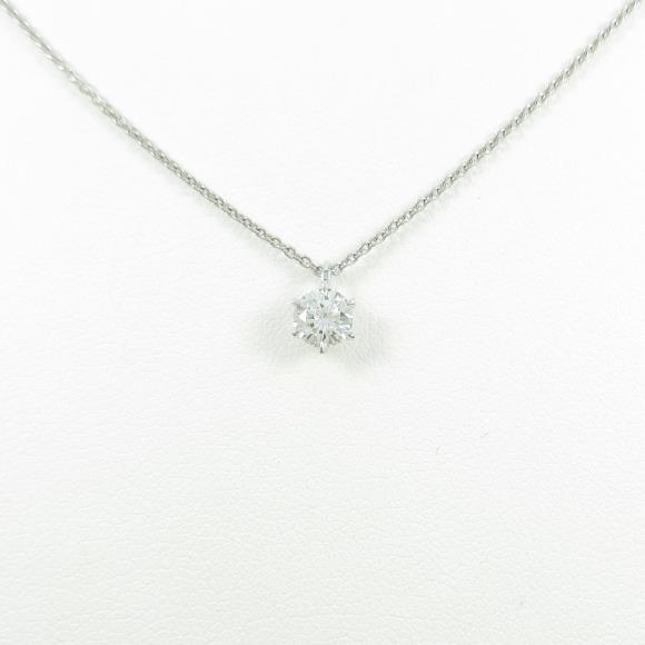 【リメイク】プラチナダイヤモンドネックレス 0.308ct・G・VVS1・VERYGOOD【中古】 【店頭受取対応商品】
