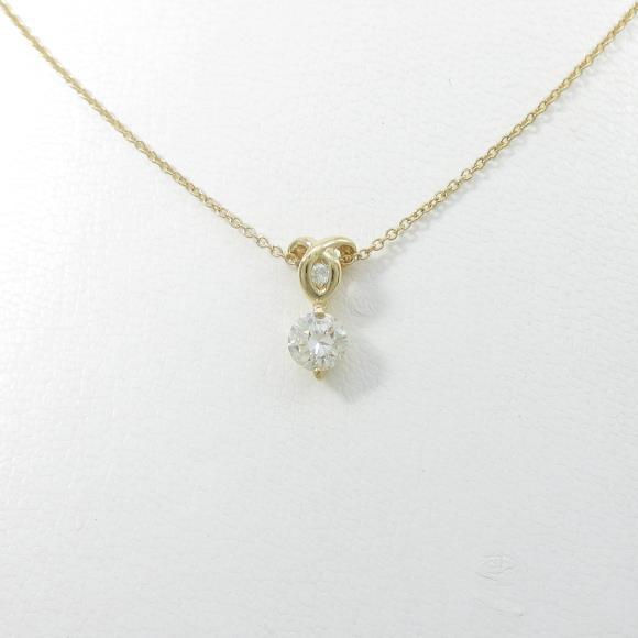 K18YG ダイヤモンドネックレス 0.505ct・L・VS2・GOOD【中古】 【店頭受取対応商品】