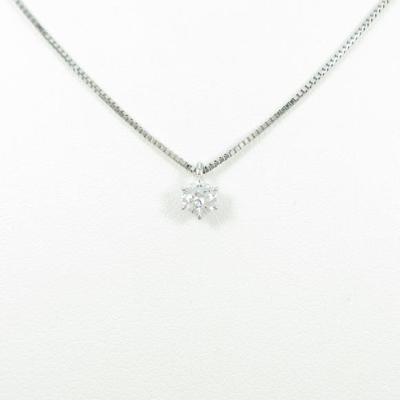 【リメイク】プラチナダイヤモンドネックレス 0.223ct・D・VS1・VERYGOOD【中古】 【店頭受取対応商品】