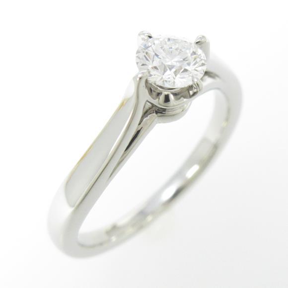 4゜C ダイヤモンドリング 0.335ct・D・VVS1・3EXT H&C【中古】 【店頭受取対応商品】