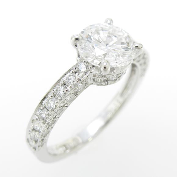 【リメイク】プラチナダイヤモンドリング 1.019ct・D・VS1・VERYGOOD【中古】 【店頭受取対応商品】