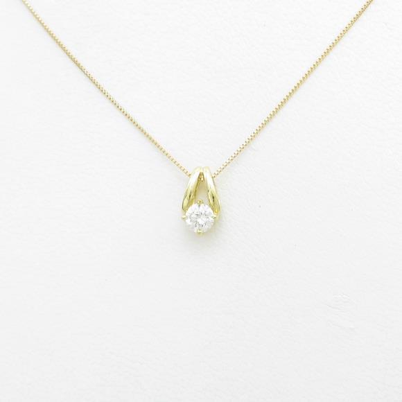 【新品】K18YG ダイヤモンドネックレス 0.254ct・F・SI2・VERYGOOD【新品】 【店頭受取対応商品】