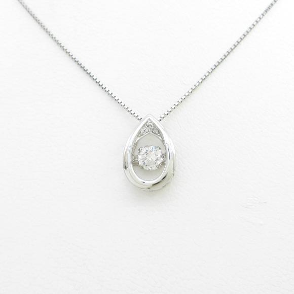 【新品】プラチナダイヤモンドネックレス 0.356ct・G・SI2・VERYGOOD【新品】 【店頭受取対応商品】