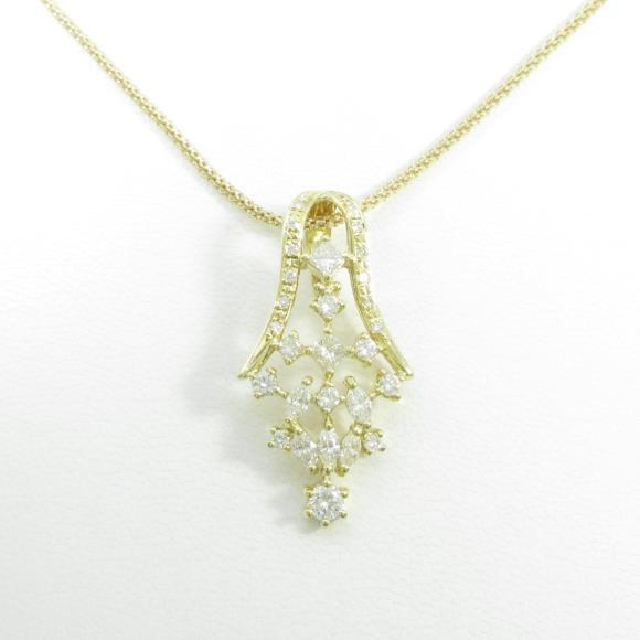 K18YG/750YG ダイヤモンドネックレス【中古】 【店頭受取対応商品】