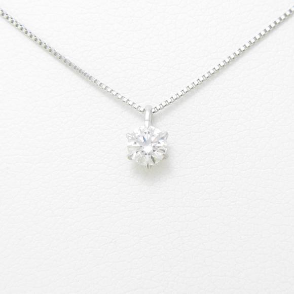 【リメイク】プラチナダイヤモンドネックレス 0.255ct・D・VS1・EXT・H&C【中古】 【店頭受取対応商品】