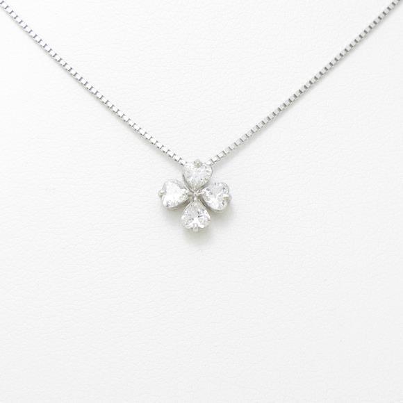 【新品】プラチナダイヤモンドネックレス 0.510ct・E・VS1-2【新品】 【店頭受取対応商品】