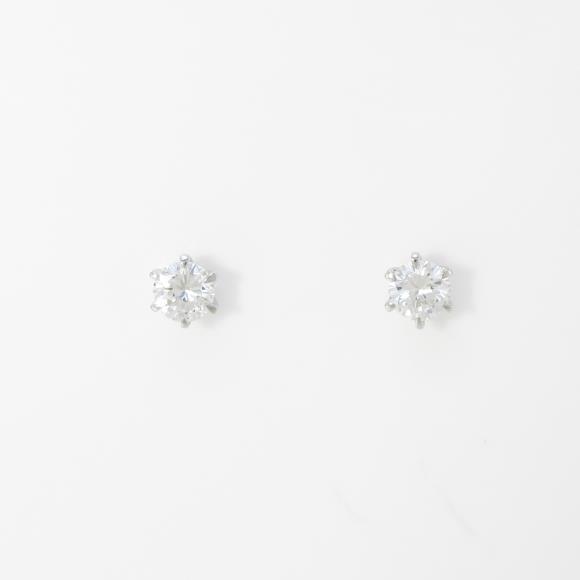 【リメイク】プラチナダイヤモンドピアス 0.169ct・0.172ct・E・SI1・GOOD【中古】 【店頭受取対応商品】