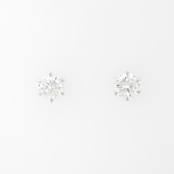 【リメイク】ST/プラチナダイヤモンドピアス 0.446ct・0.480ct・G・VS1・GOOD【中古】 【店頭受取対応商品】