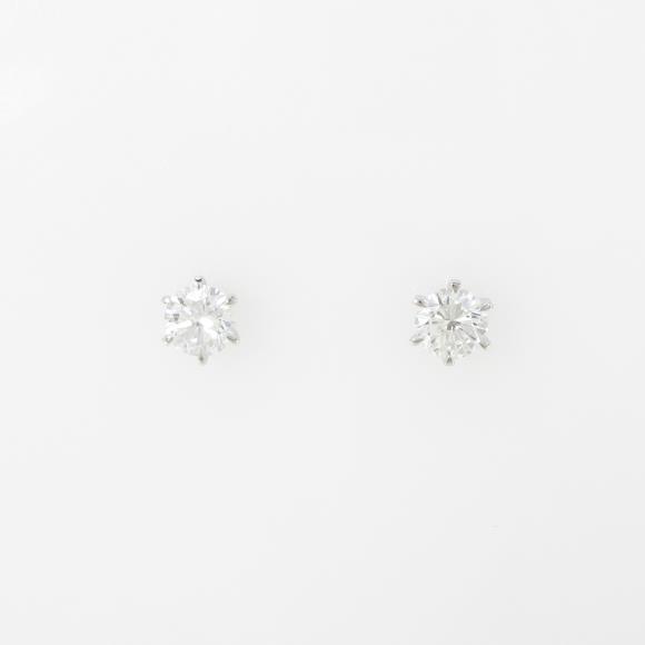 【リメイク】ST/プラチナダイヤモンドピアス 0.633ct・F-G・SI1・GOOD【中古】 【店頭受取対応商品】