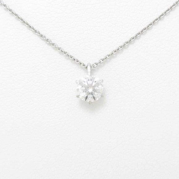【リメイク】プラチナダイヤモンドネックレス 0.438ct・G・I1・EXT【中古】 【店頭受取対応商品】