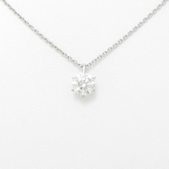 【リメイク】プラチナダイヤモンドネックレス 0.628ct・F・VVS1・EXT【中古】 【店頭受取対応商品】