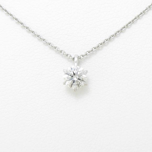 【リメイク】プラチナダイヤモンドネックレス 0.303ct・G・SI2・EXCELLENT【中古】 【店頭受取対応商品】