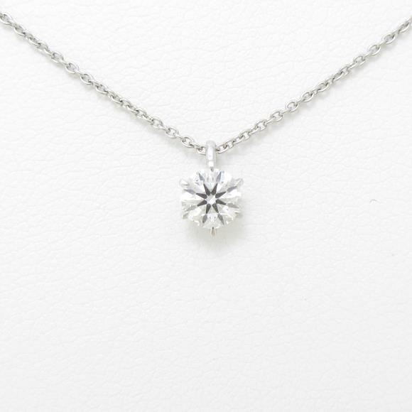 【リメイク】プラチナダイヤモンドネックレス 0.324ct・G・SI1・3EXT【中古】 【店頭受取対応商品】